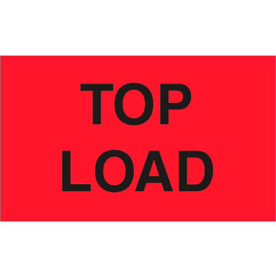 "Top Load 3"" x 5"" - Fluorescent Red / Black"