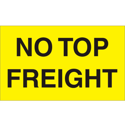 """No Top Freight 3"""" x 5"""" - Bright Yellow / Black"""