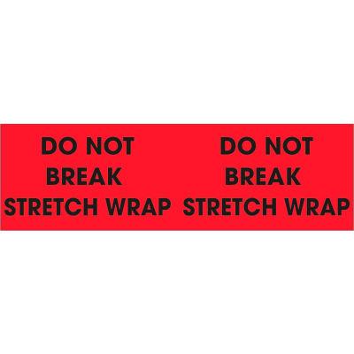 "Don't Break Stretch Wrap 3"" x 10"" - Fluorescent Red / Black"