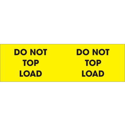 "Don't Top Load 3"" x 10"" - Bright Yellow / Black"