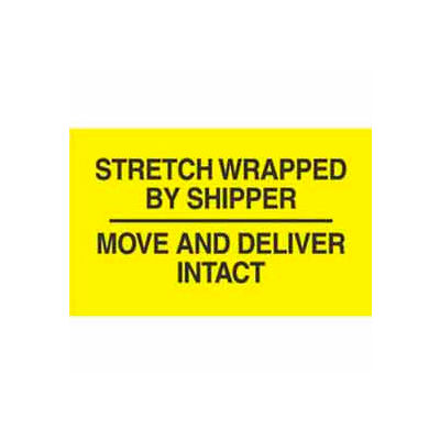 """Stretch Wrapped By 3"""" x 5"""" - Bright Yellow / Black"""