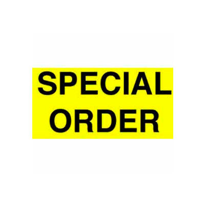"""Special Order 1-3/8"""" x 2"""" - Bright Yellow / Black"""