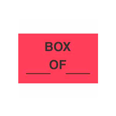 "Box Of 3"" x 5"" - Fluorescent Red / Black"
