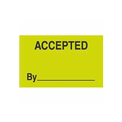 """Accepted By 3"""" x 5"""" - Fluorescent Green / Black"""