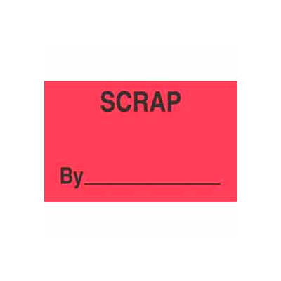"Scrap By 3"" x 5"" - Fluorescent Red / Black"