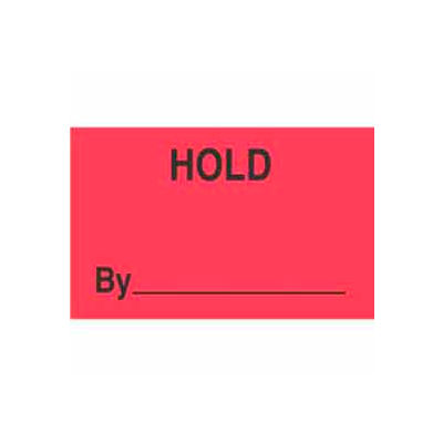 """Hold By 1-3/8"""" x 2"""" - Fluorescent Red / Black"""