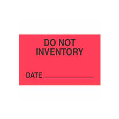 """Don't Inventory 1-3/8"""" x 2"""" - Fluorescent Red / Black"""