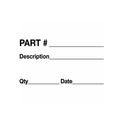 "Part Number Description Quantity Date 3"" x 5"" - White / Black"