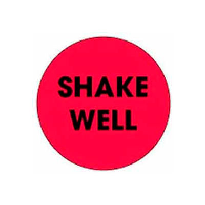 "Shake Well 2"" Dia. - Fluorescent Red / Black"