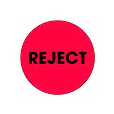 "Reject 2"" Dia. - Fluorescent Red / Black"