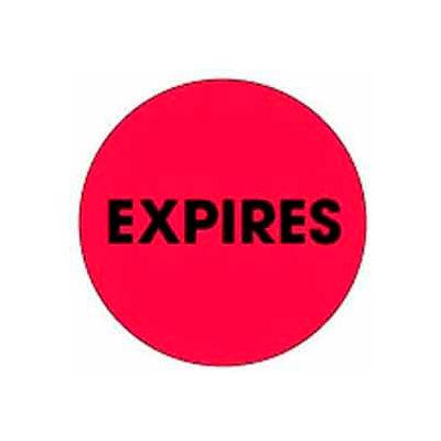 """Expires 2"""" Dia. - Fluorescent Red / Black"""