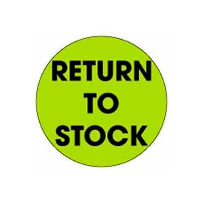 "Return To Stock 2"" Dia. - Fluorescent Green / Black"