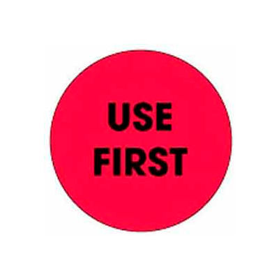 "Use First 2"" Dia. - Fluorescent Red / Black"
