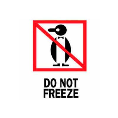 "Do Not Freeze 3"" x 4"" - White / Red / Black"