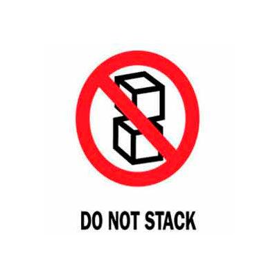 "Do Not Stack 3"" x 4"" - White / Red / Black"