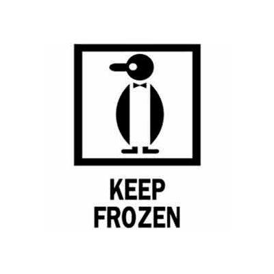 """Keep Frozen 4"""" x 6"""" - White / Red / Black"""
