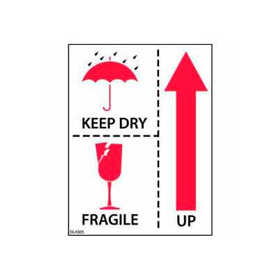 """Keep Dry Fragile Up 3"""" x 4"""""""
