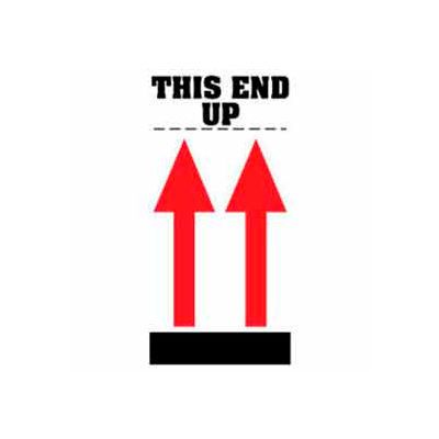 """This End Up 4"""" x 8"""" - White / Red / Black"""