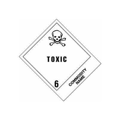"Toxic Pesticide Solid 4"" x 4-3/4"" - White / Black"
