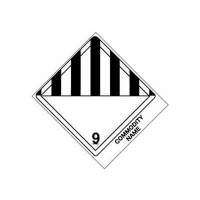 "Class 9 Blank 4"" x 4-3/4"" - White /Black"
