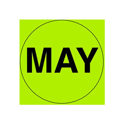 "May 2"" - Fluorescent Green / Black"