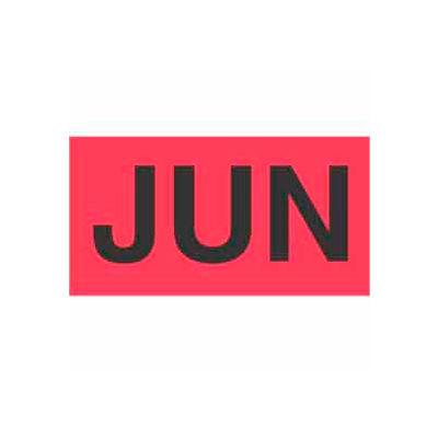 "Jun 3"" x 6"" - Fluorescent Red / Black"
