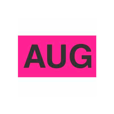 "Aug 2"" x 3"" - Fluorescent Pink / Black"
