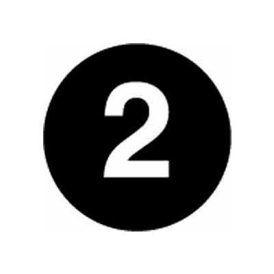 "4"" Dia. Black Discs Rev. #2 - Black / White"