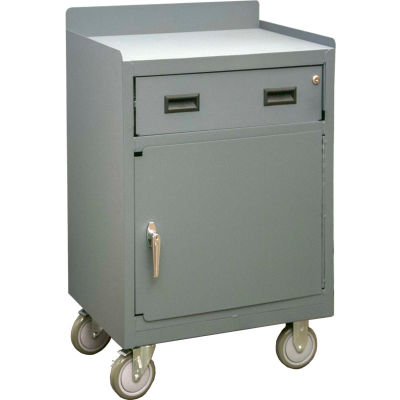 """Durham 2203-LU-95 Mobile Bench Cabinet with 1 Drawer - 29-7/8""""W x 18-1/8""""D x 38-1/2""""H"""