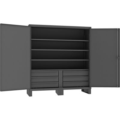 "Durham Heavy Duty Cabinet HDCD247278-6S95 - 12 Gauge With 6 Drawers & 4 Shelves, 72""W x 24""D x 78""H"