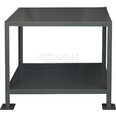 "Durham MT244830-2K295 48""W x 24""D x 30""H Machine Table with 2 Shelves"