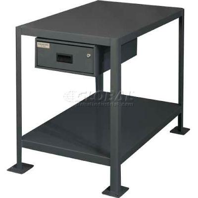 "Durham MTD243630-2K195 36""W X 24""D X 30""H Machine table with drawer"