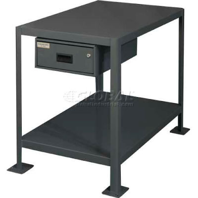 "Durham MTD243636-2K195 36""W X 24""D X 36""H  Machine table with drawer"