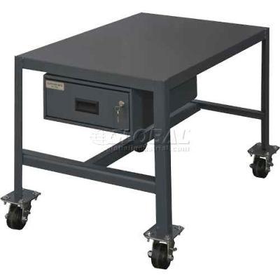 "Durham MTDM244818-2K195 48""W X 24""D X 18""H Machine table with drawer"