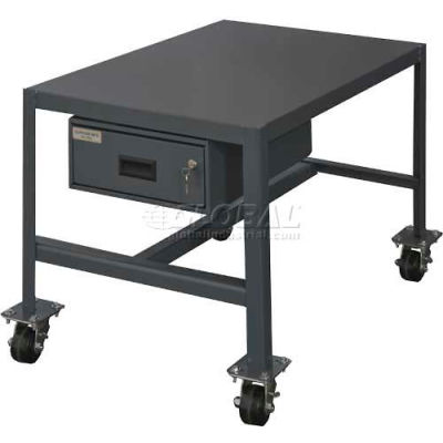 "Durham MTDM244830-2K195 48""W X 24""D X 30""H Machine table with drawer"