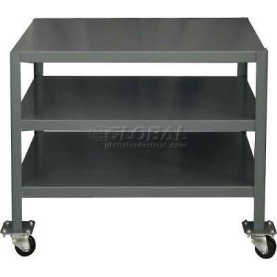 "Durham MTM183630-2K395 36""W X 18""D X 30""H Machine table with 2 shelves"