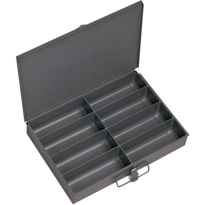 Durham Steel Scoop Compartment Box 213-95 - 8 Compartment, 13-3/8 x 9-1/4 x 2 - Pkg Qty 6