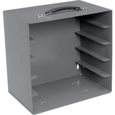 "Durham Rack 291-95 - For 2-5/16""H Large Plastic (LP) Compartment Boxes - Fits 5 Boxes"