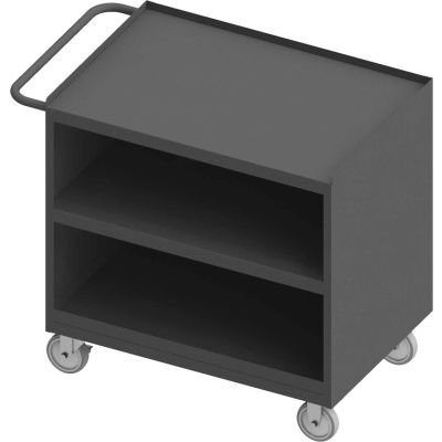 "Durham Mobile Bench Cabinet - Steel Top & Shelf - 42-1/8""W x 24-1/4""D x 36-3/8""H"