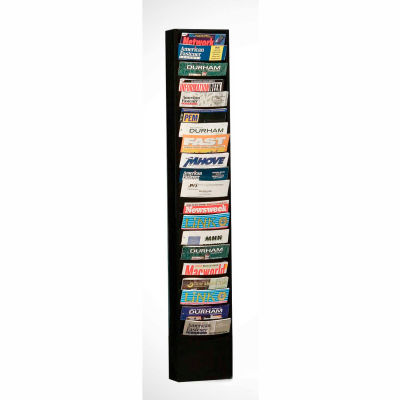 20 Pocket Vertical Literature Rack - Black