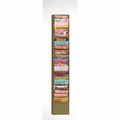 20 Pocket Vertical Literature Rack - Tan