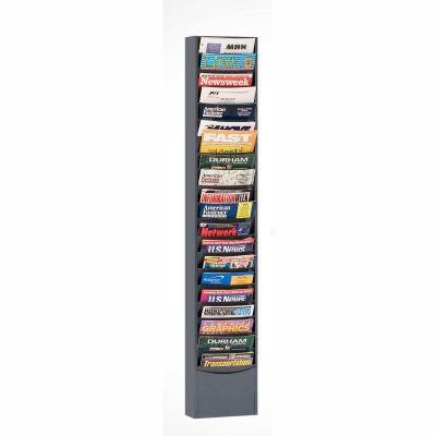 20 Pocket Vertical Literature Rack - Gray