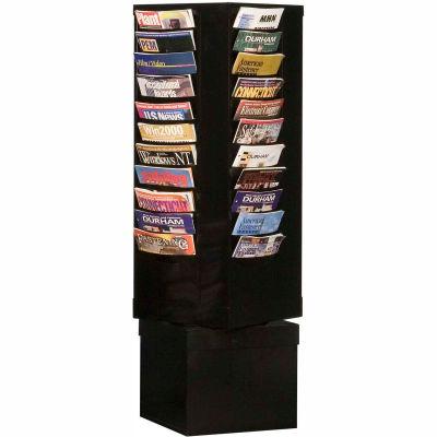 44 Pocket Rotary Literature Rack - Black