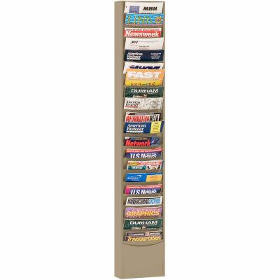 20 Pocket Medical Chart & Special Purpose Literature Rack - Tan