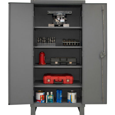 "Global Industrial™ 12 Gauge, Gray Heavy Duty Cabinet, 36"" W x 24"" D x 78"" H"