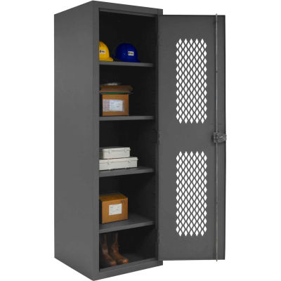 "Durham Welded Visible Storage Locker, 24""Wx24-1/8""Dx78""H, Gray, Assembled"