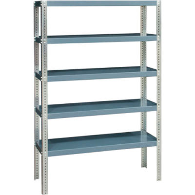 "Durham - Extra Heavy Duty/Open Shelving 60"" x 24"" x 96"", 5 Shelf, Gray"
