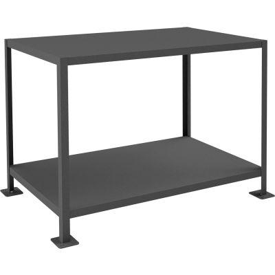 "Durham MT367236-3K295 72""W x 36""D x 36""H Machine Table with 2 Shelves"