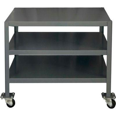 "Durham MTM243630-2K395 Mobile Machine Table - 3 Shelves - 39-1/4""W x 26-3/4""D x 30-1/4""H"