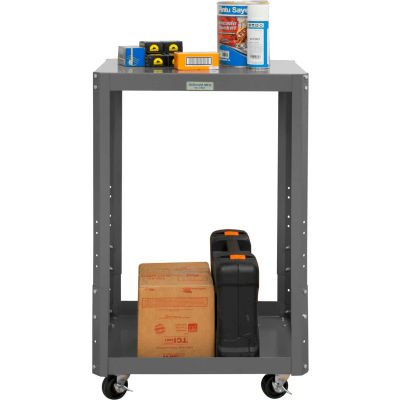 """Durham Mobile Machine Table - Adjustable Height, 2 Shelves - 48-1/8""""W x 24-1/8""""D x 39-13/16""""H"""